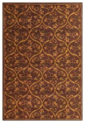 Area rug floral scroll plum 2 39 3 x 3 39 3 contemporary rugs for Plum and cream rug
