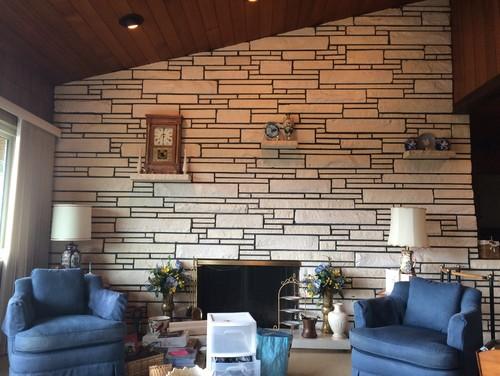 1950s Sandstone Fireplace Remodel