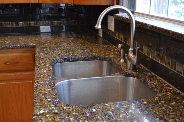 Vetrazzo Recycled Glass Countertop Contemporary
