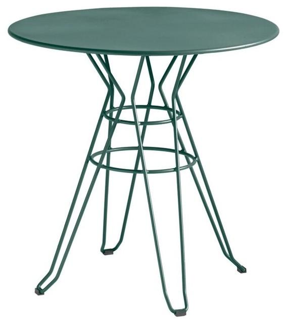 Table De Jardin Design Ronde D90 Alameda Couleur Vert
