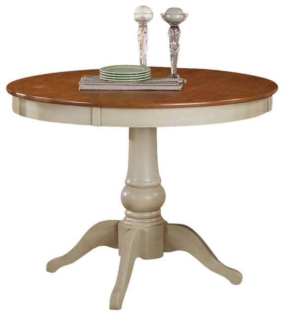 Steve silver company candice round dining table in oak and for Off white round table
