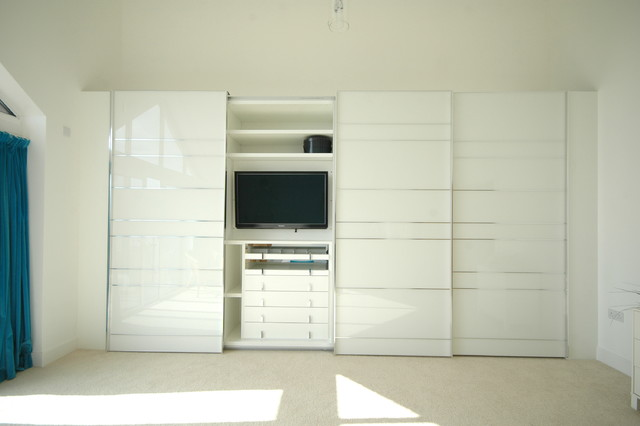 Stylish sliding door wardrobe in contemporary new build. - Contemporary - Closet - Other - by ...