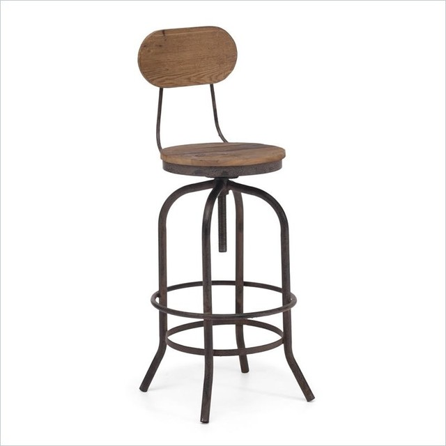 twin peaks industrial bar chair industriel chaise et tabouret de bar new york par zin home. Black Bedroom Furniture Sets. Home Design Ideas