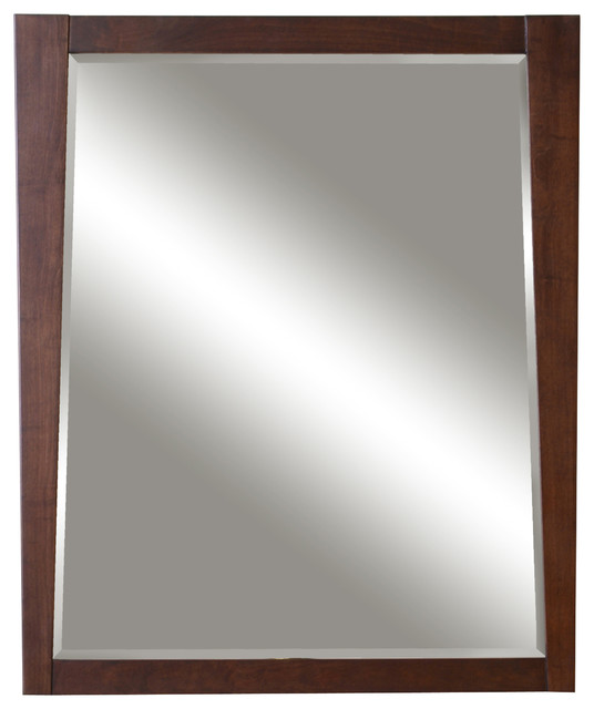 Jayden 30 Framed Beveled Mirror Modern Bathroom Mirrors By Sunny Wood Products