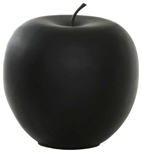 Apple double extra large black modern decorative for Modern decorative objects