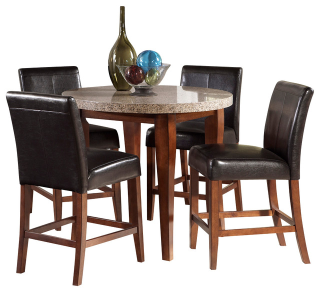 dining room set in cherry traditional indoor pub and bistro sets