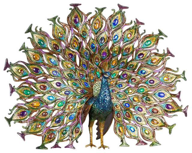 Peacock outdoor decor 28 images sunjoy peacock d cor outdoor d 233 cor walmart ca tropical - Outdoor peacock decorations ...