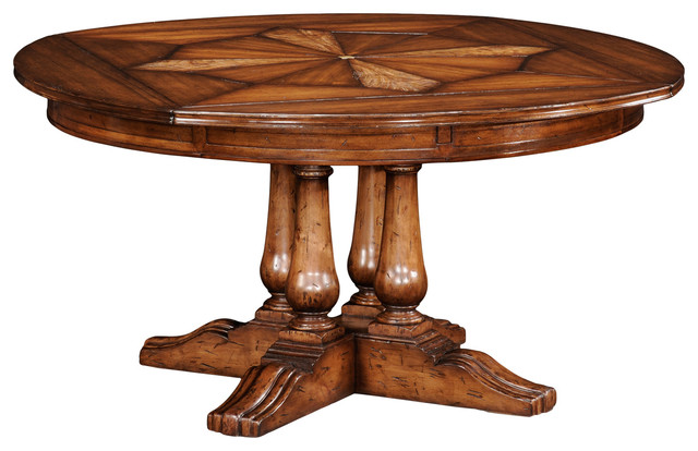 Jonathan Charles Round Country Extending Dining Table