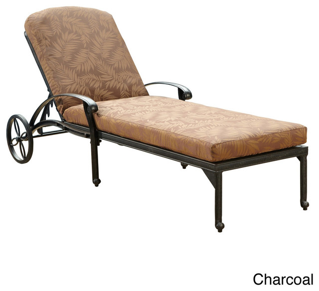Floral blossom chaise lounge chair with cushion for Chaise longue tours
