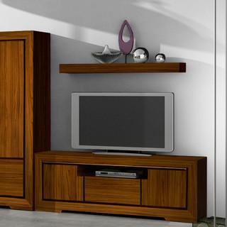 Lay estante 120 teca contempor neo estanter as de pared de banak importa - Banak importa recibidores ...