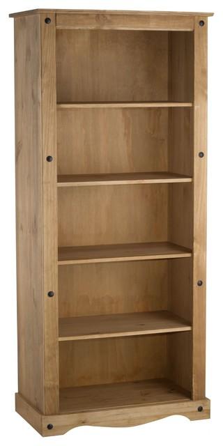 Bonsoni Pine Corona Tall Bookcase Contemporary