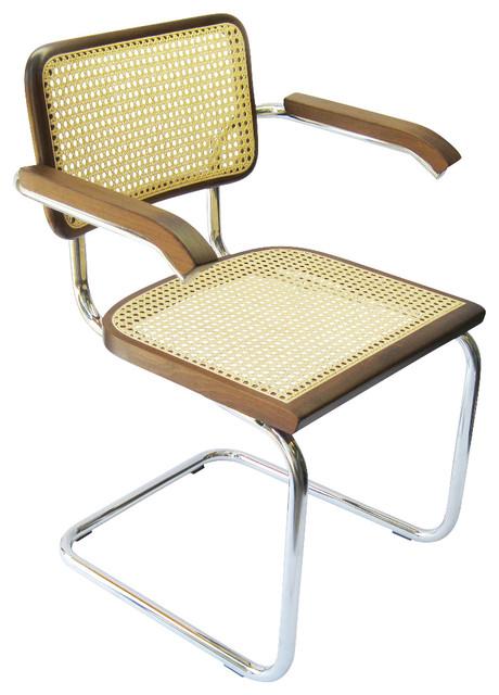 Marcel Breuer Cane Chrome Arm Chair, Walnut - Anni '50 - Poltrone e sedie in stile - di HTC Stores