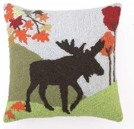 Modern Moose Pillow : Moose Hook Pillow 18X18
