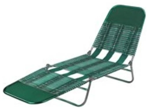 Worldwide Sourcing S G Pvc Folding Lounge Green Traditional Outdoor Chaise Lounges
