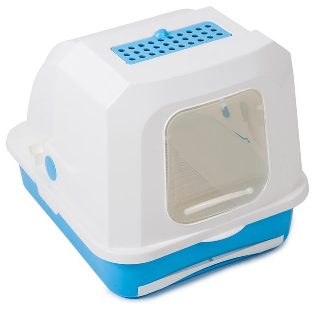 ... -Cleaning Cat Litter Box Drawer transitional-litter-boxes-and-covers