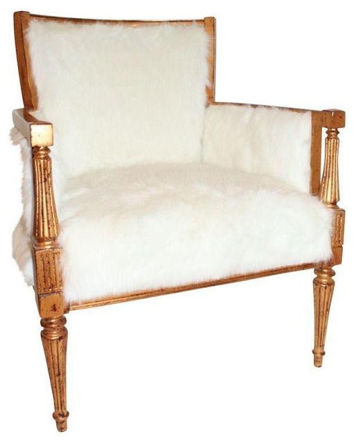 Faux Mongolian Fur Side Chair 2 200 Est Retail