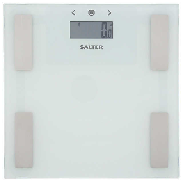 Body weight scales products precision choice digital bathroom scale - Salter 9150 Analyser Bathroom Scale White Bathroom