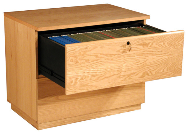 Real Wood Oak Veneer Lateral File - Filing Cabinets - by ...