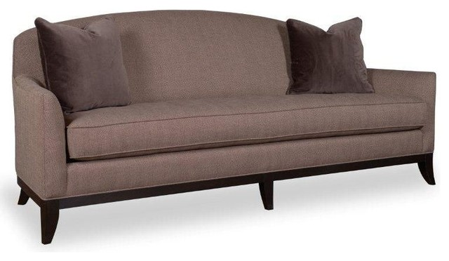 Art Furniture Whitney Cocoa Camel Back Tufted Seat Sofa Transitional Sofas: camel back sofa
