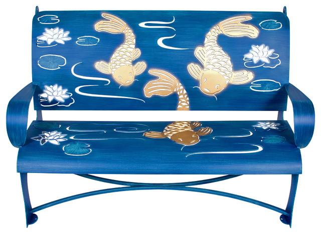 Koi bench eclectic outdoor benches by cricket forge for Koi furniture
