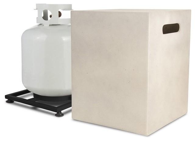 Mezzo Square Propane Tank Cover - 670-AW - Contemporary - Home Improvement