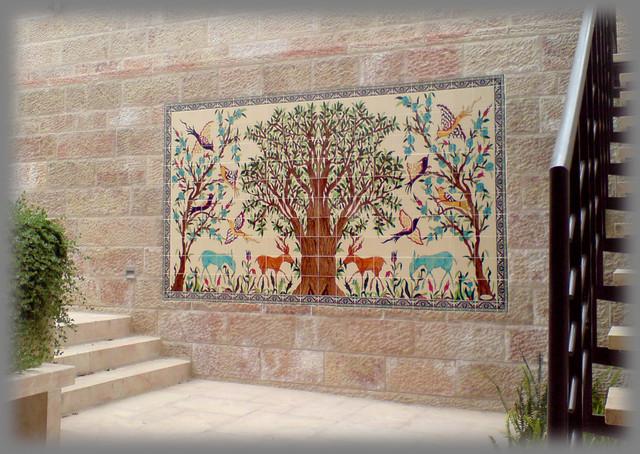 Fox Residence Landscape Hand Painted Ceramic Tile Mural