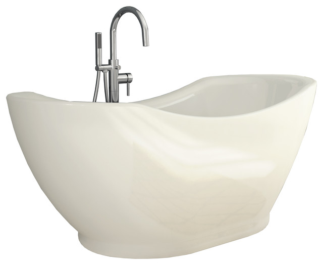 Salacia All In One Free Standing Tub Combo Contemporary