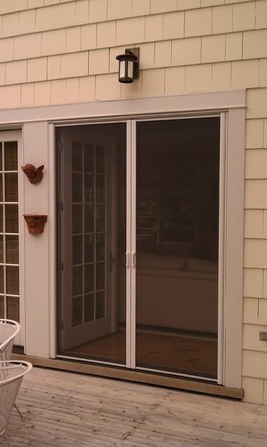 Mirage retractable door screens french double doors for Retractable screen door for double doors