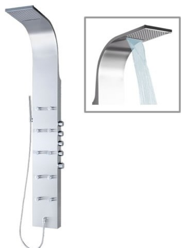 Thermostatic Shower Panel Tower System with Waterfall Head - Shower Panels And Columns - Other ...
