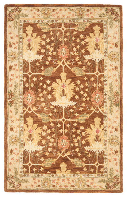 Safavieh Champagne Hand Tufted Rug, Brown and Beige, 11'x15' - Moderno - Tappeti - di Safavieh