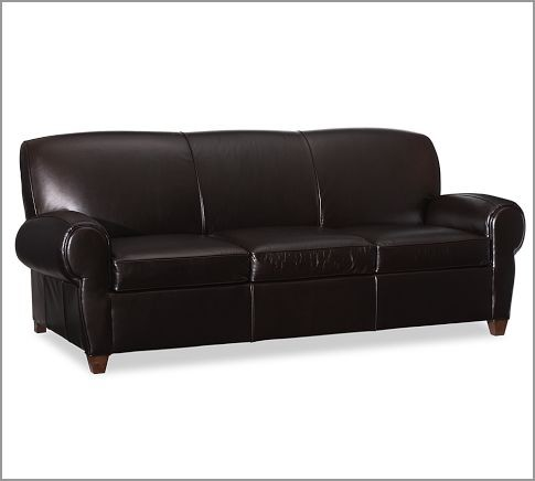 manhattan leather sleeper sofa modern sofa beds by pottery barn