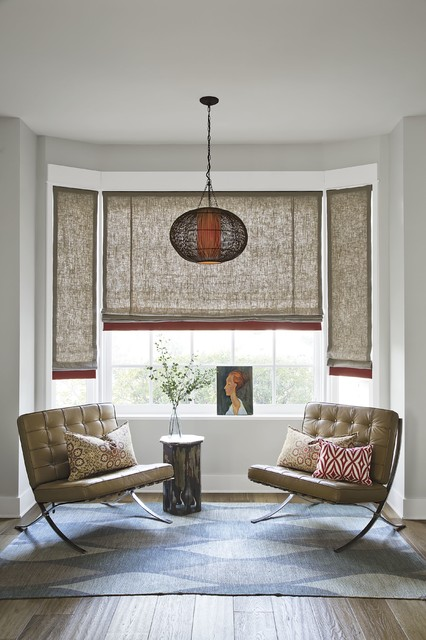 Smith and noble color block roman fabric shades asian for Smith noble shades