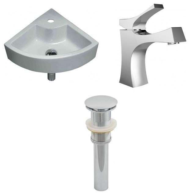 Unique Vessel Set With Single Hole Faucet And Drain 19
