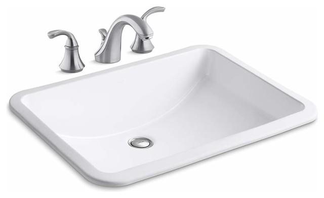 Kohler K 10272 4 K 2215 Ladena 20 1 2 Undermount Bathroom Sink With Overflow An Traditional