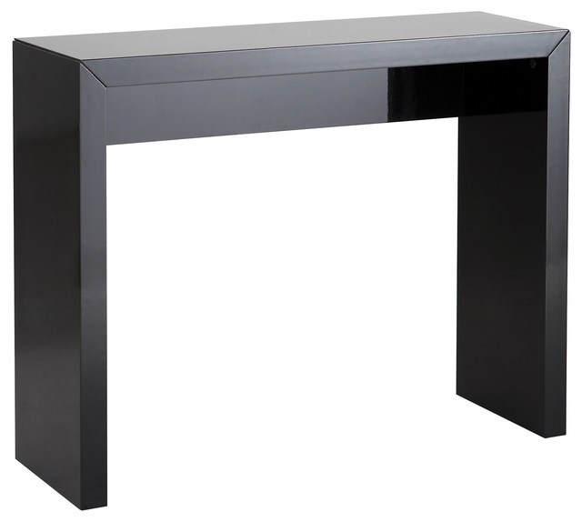 nora console noire laqu e fixe pour entr e contemporain. Black Bedroom Furniture Sets. Home Design Ideas