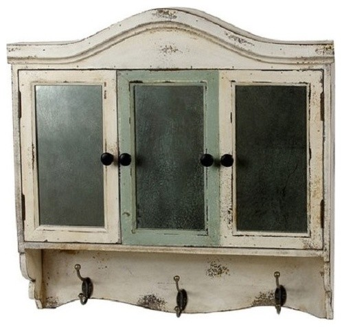 French Country Decor White Cabinet Wall Decor - Farmhouse - Display And Wall Shelves - by M Home ...