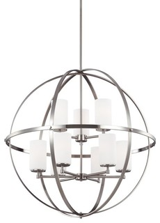 Sea Gull Lighting Alturas 9 Light Chandelier Brushed Nickel 3124609