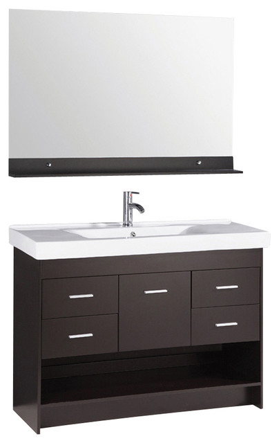 48 double sink bathroom vanity set combo with mirror contemporary