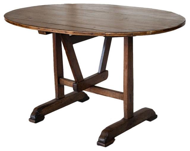 Antique French Tilt Top Vendage Table Furniture