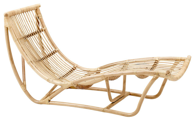 Michelangelo rattan daybed contemporary chaise longue for Chaise longue rattan sintetico