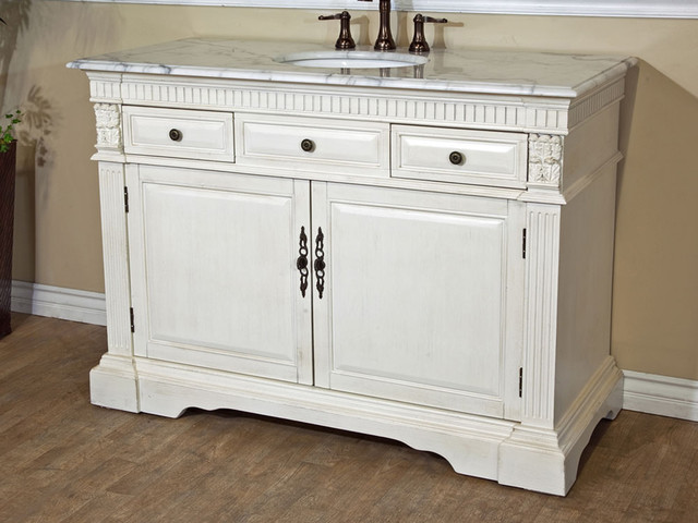 50 Molise Single Bath Vanity Antique White Traditional Bathroom Vanities And Sink