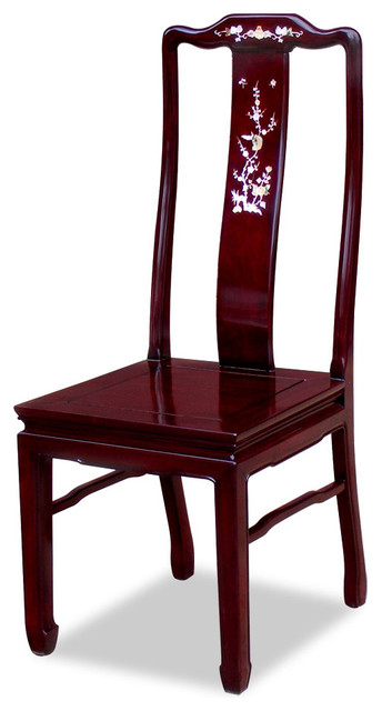 Rosewood Mother Of Pearl Inlaid Chair Asian Dining Chairs