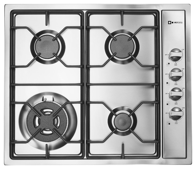 Verona 24 Inch Gas Cooktop Transitional Cooktops New
