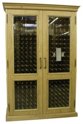 VINO-700ENGLISH-U English Oak Wine Cooler Cabinet Unfinished - Contemporary - Beer And Wine ...