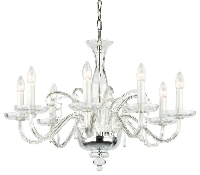 Amadeus Crystal Glass Chandelier Contemporary Chandeliers By Inviting Home Inc