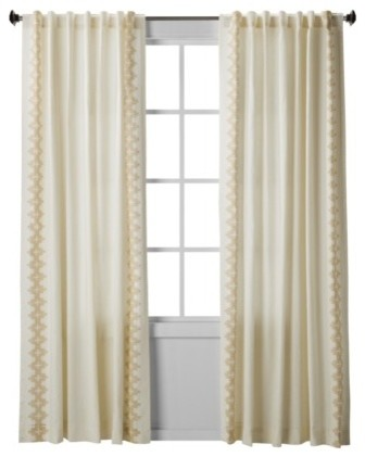 Nate Berkus Inca Print Window Panel Cream Contemporary