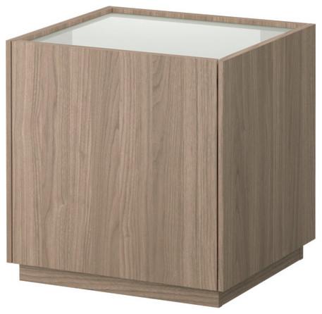 nyvoll nightstand light gray white skandinavisch. Black Bedroom Furniture Sets. Home Design Ideas