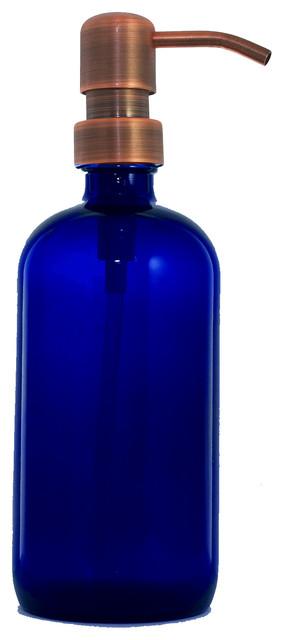 Cobalt 16 oz. Apothecary Dispenser, Antique Copper Classic ...