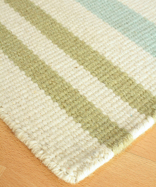 Sanibel island wool berber stripe rug 3 39 x 5 for Wool berber area rug