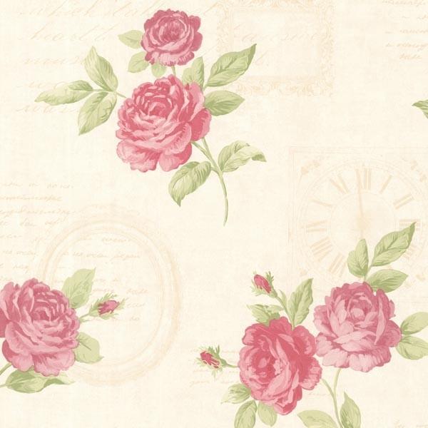 venetia pink vintage rose toss wallpaper bolt